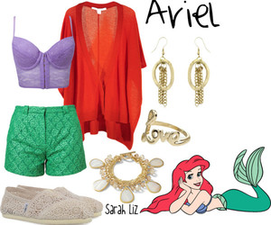 ariel, disney, and outfit image