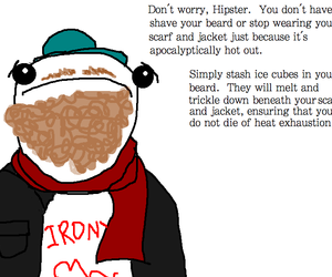 beards, hipsters, and scarf image