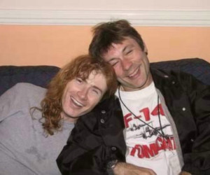Bruce Dickinson, dave mustaine, and heavy metal image