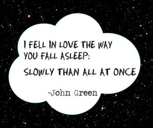john green, clouds, and stars image