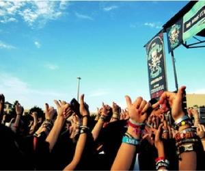 concert, hands, and bracelet image