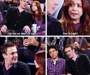 funny, high, and how i met your mother image