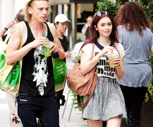 lily collins and Jamie Campbell Bower image