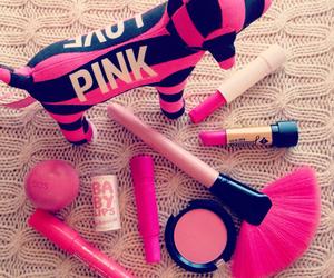 pink, makeup, and lip balm image
