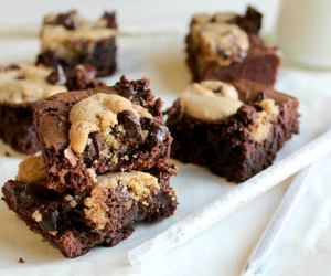 chocolate, brownies, and cookie image