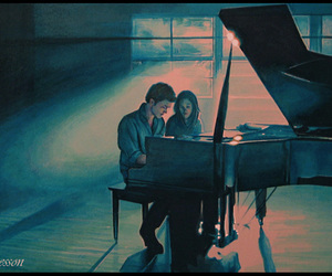 twilight and piano image