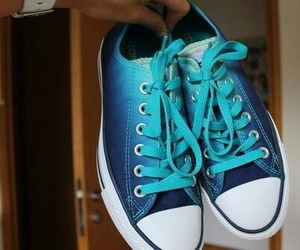 shoes, blue, and converse image