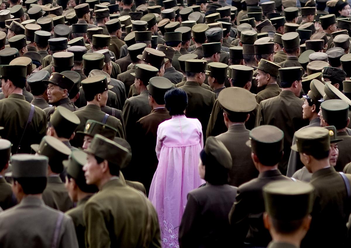 north korea, korea, and journalist image