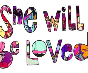 love, maroon 5, and she will be loved image