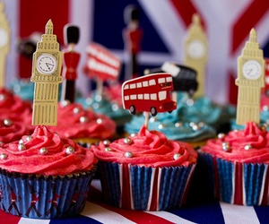 london, cupcake, and food image