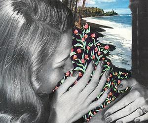 art, beach, and vintage image