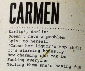 lana del rey, Carmen, and Lyrics image