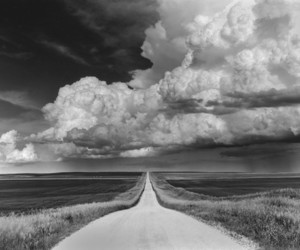 clouds, road, and photography image