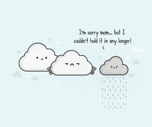 funny, clouds, and rain image