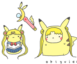 pikachu and sailor moon image