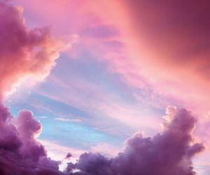beautiful, blue, and pink image