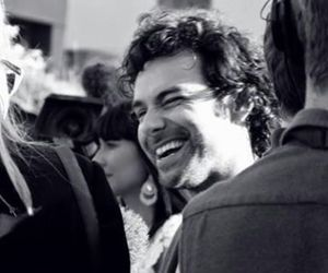 black and white, laughing, and smile image