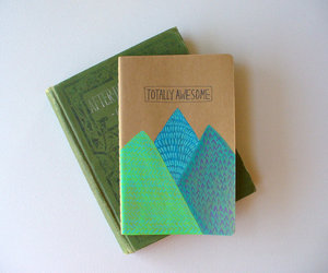 journal, moleskine, and mountains image