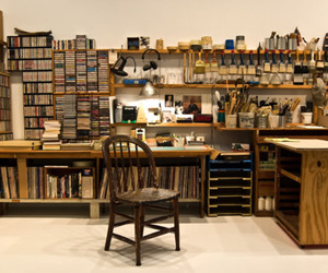 books, desk, and office image
