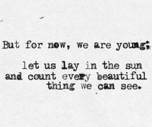young, quotes, and sun image