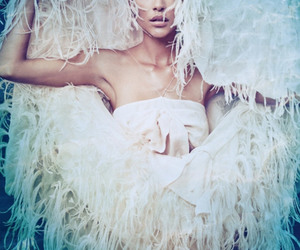 fashion, model, and underwater image