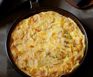 breakfast, eggs, and frittata image