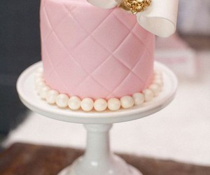 cake, pink, and bow image