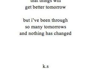 quotes, sad, and tomorrow image