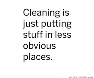 funny, cleaning, and quote image