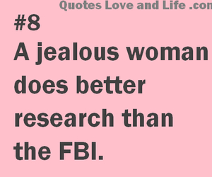woman, funny, and jealous image