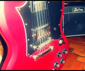 electric guitar, SG, and kustom image