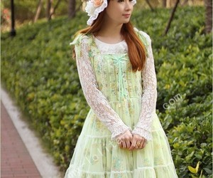 chiffon, floral, and lovely image