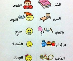 happy, text, and عربي image