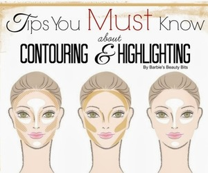 beauty, contouring, and highlighting image