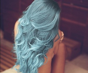 blue hair and tumblr image