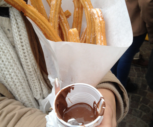 churros, food, and nutella image