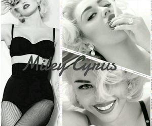 cyrus, photoshoot, and Marilyn Monroe image