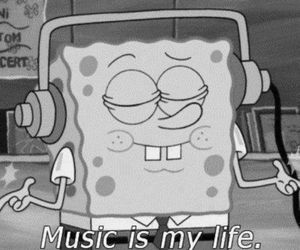 cartoon, music, and quotes image