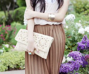 fashion, clutch, and girl image