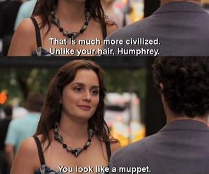 gossip girl, blair waldorf, and dan humphrey image