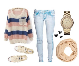 outfit, shoes, and jeans image