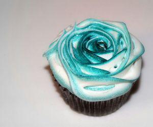 food, cupcake, and rose image