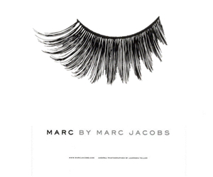 marc jacobs, black, and eyelashes image