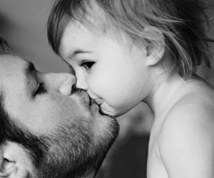 love, baby, and kiss image