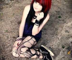 emo, scene, and emo girl image