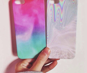 case, cotton candy, and iphone image