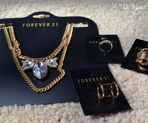 forever 21, necklace, and gold image