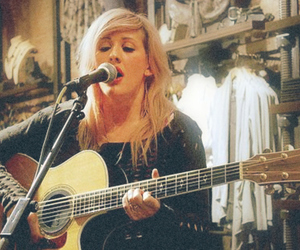 Ellie Goulding, guitar, and vintage image
