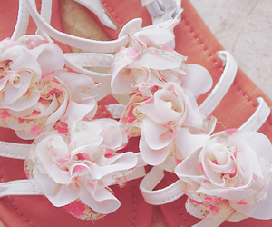 fashion, floral, and shoes image