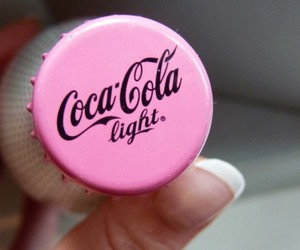 pink, coca cola, and light image